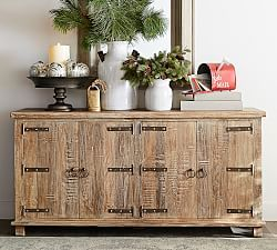 Kaplan Reclaimed Wood Media Console Rustic Media Console