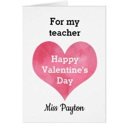 Personalized Teacher Valentine Day Greeting Card Heart Gifts Love Hearts Special Valentine S Day Greeting Cards Valentine Greeting Cards Happy 16th Birthday
