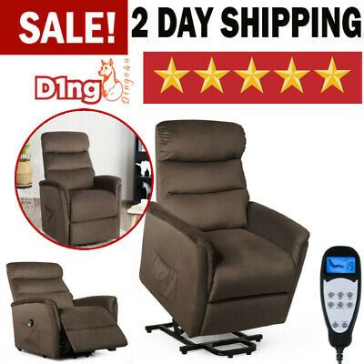 Advertisement Electric Massage Recliner Sofa Chair With Warm Fabric Ergonomic Full Body Remote In 2020 Recliner Lift Recliners Chair