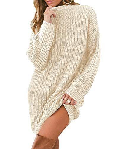 uk availability 46e97 a45c0 Strickkleid Longpullover Lange Pullover Kleid Grobstrick ...