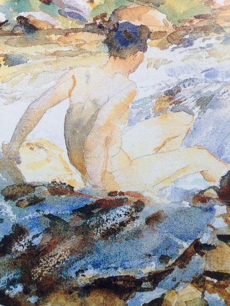 "rickinmar: "" watercolor by John Singer Sargent… """