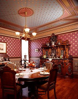 Victorian Dining Room In Our Clients Restoration Home Featuring Antique Furniture From EuroLuxAntiques