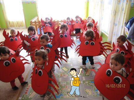 Disfraz De Cangrejo Ideal Para Escuelas Hecho En El Aula Ideas De Disfraces Para Maestros Art For Kids Crab Costume Costumes