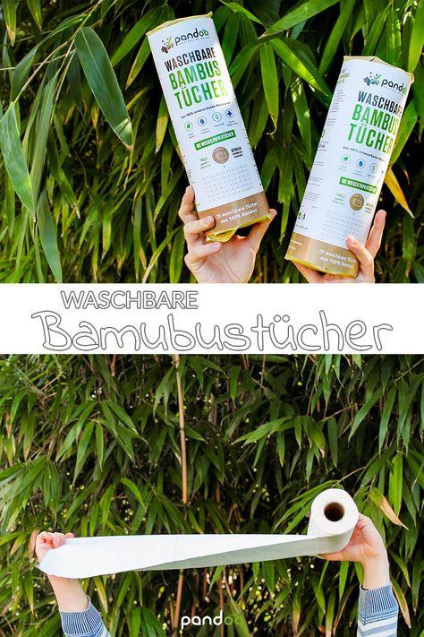 pandoo Pilotprodukt: Waschbare Bambustücher für die Küche. Nachhaltige Alternative zu Küchenpapier.