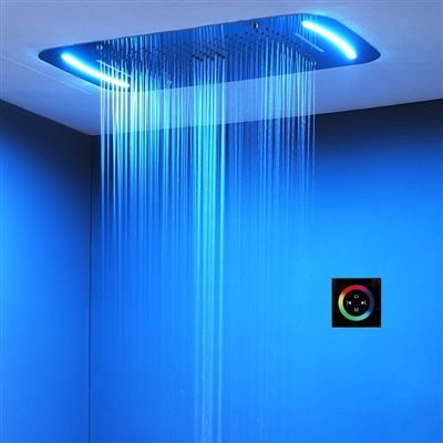 Buy Trialo Solid Brass Recessed Color Changing Water Powered Led Shower Head Online In 2020 Shower Heads Led Shower Head Modern Shower Head