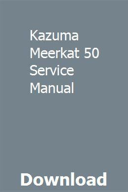 Kazuma wombat 50cc manual.
