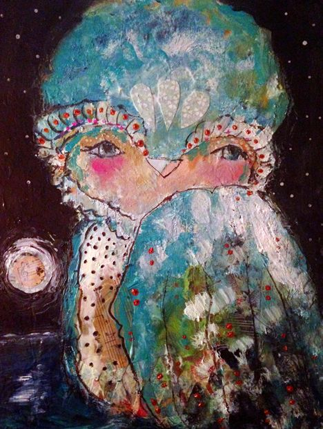 Seeing The Light - an Original Mixed Media Painting by Juliette Crane