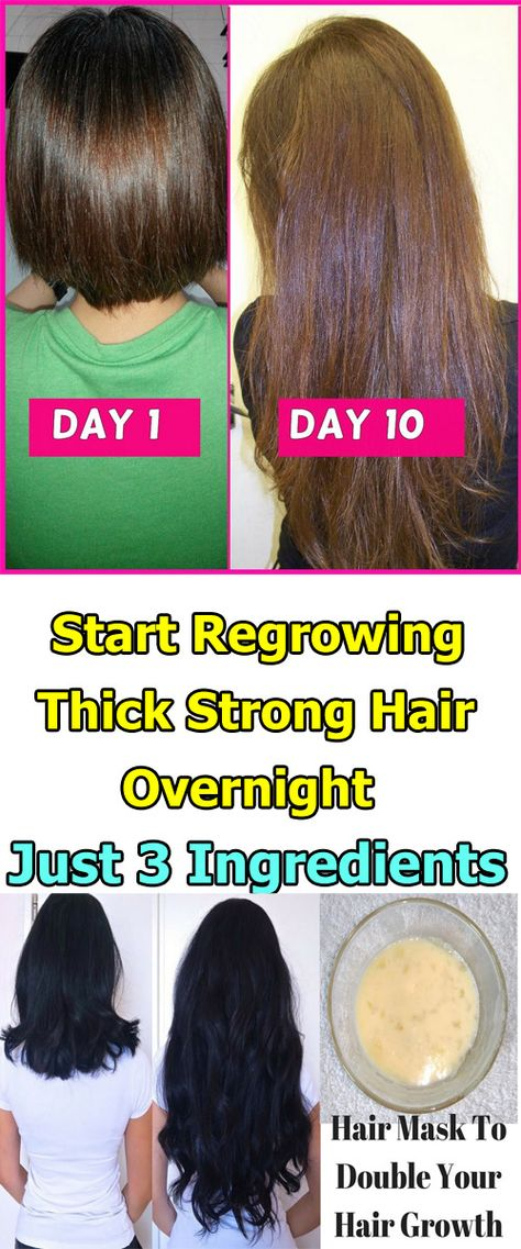 Start Regrowing Thick, Strong Hair Overnight With Just 3 Ingredients