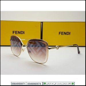نظارات فندي نسائيه Fendi مع كامل ملحقاتها و بنفس اسم الماركه هدايا هنوف Fendi Sunglasses Oval Sunglass