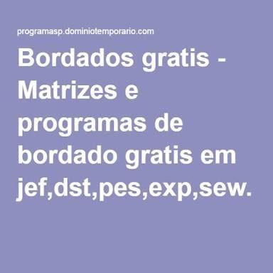 Resultado De Imagen Para Bordado Janome Jef Gratis E Impressao Programa De Bordado Matriz De Bordados Gratis Designs De Bordados