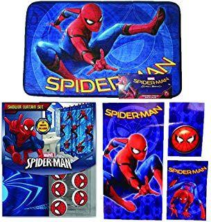 Spiderman Bathroom Theme Marvel New Shower Curtain Hooks Bath