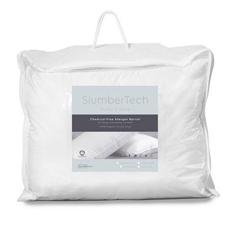 Allied Home Allergen Barrier 2 Pack Medium Density Pillow Pillows Barrier Barrier Protection