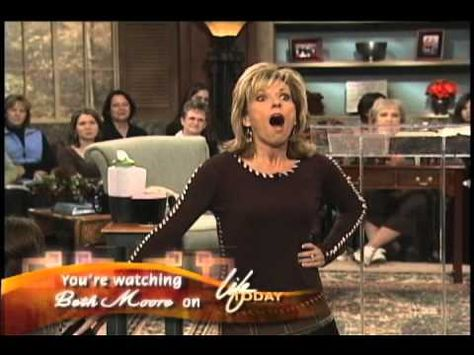 Beth Moore. I love the way she tells this story. It's funny, warm, very touching, and very inspirational.