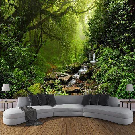 3D Mystical Forest Wall Mural - 1 ㎡