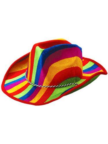 f7cc1935c Cowboy or Girl Rainbow Pride Striped Felt Party Hat | WILLY WONKA ...