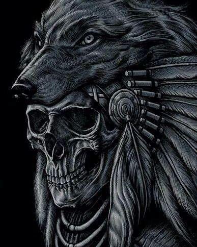 Pin By Sierra Kimball On Skull Indian Skull Tattoos Headdress Tattoo Native Tattoos