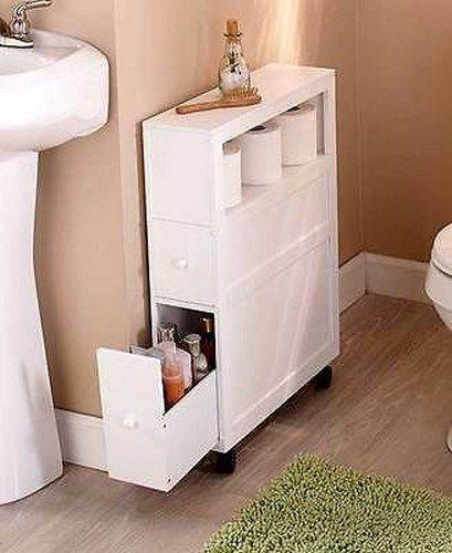 50 Best Small Bathroom Storage Ideas 51 In 2020 Slim Bathroom Storage Slim Bathroom Storage Cabinet Bathroom Storage Cabinet