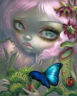 ART PRINT Princess with a Black Cat  Jasmine Becket-Griffith 14x11 Gothic Poster