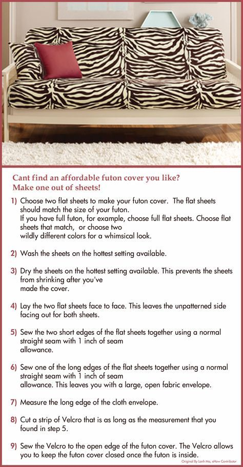 Make Your Own Futon Cover Saw This Idea