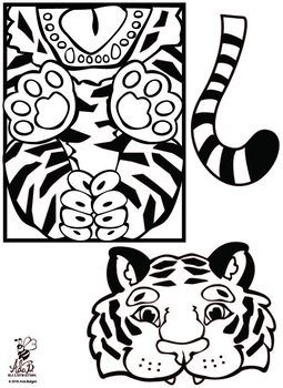 Tiger Paper Bag Puppet Paper Bag Puppets Tiger Crafts Paper