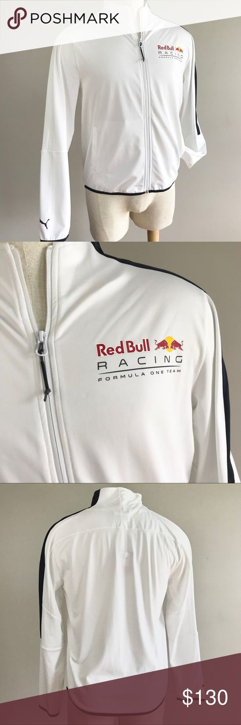 bfd1824129ad Puma Red Bull Racing T7 men white track jacket NEW Puma mens Red Bull Racing  T7 sweat track jacket size medium. 575273 01 Full zip white jacket with  blue ...