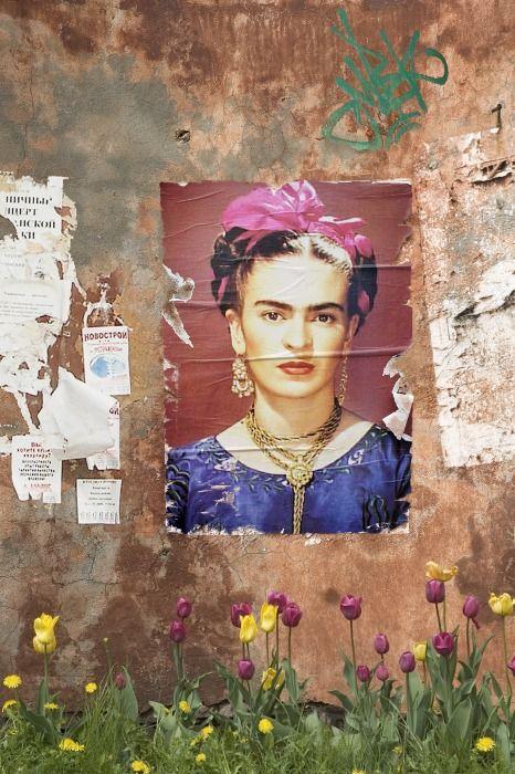 Frida  outdoor poster on wall cooool