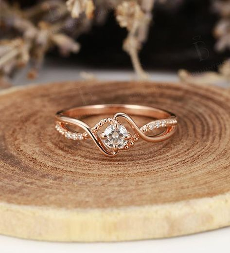 Art deco engagement ring Vintage antique moissanite halo diamond rose gold Unique wedding women Jewelry birthstone Anniversary gift for her - engagement rings Art Deco Jewelry, Fine Jewelry, Women Jewelry, Jewelry Rings, Jewellery Box, Jewelry Ideas, Jewellery Shops, Jewelry Stores, Gemstone Jewelry