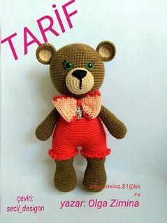 Amigurumi) Masum Ayıcık Kulak, Burun Örme ve Birleştirme - Teddy ... | 320x239