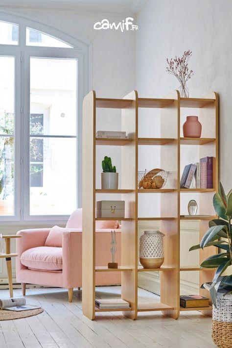 bibliotheque chene camif fr meuble
