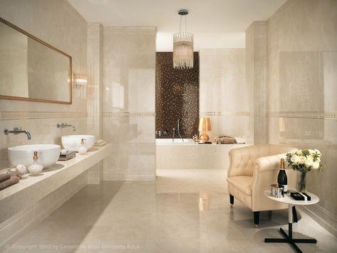 Rivestimento in ceramica a pasta bianca effetto marmo MARVEL WALL - bambus mobel design siam kollektion sicis bilder