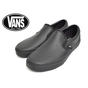 931236f223c9 VANS WOMENS VN-018DGKA LADY S CLASSIC SLIP-ON (Perf Leather) BlackBlack   delicious-y 11001144  -  39.99   Vans Shop