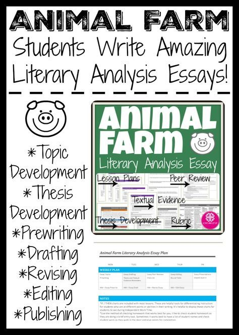 Teaching Animal Farm In High School Thi Literary Analysi Essay Pack Lead Student Throu Reflective Example George Orwell On Writing