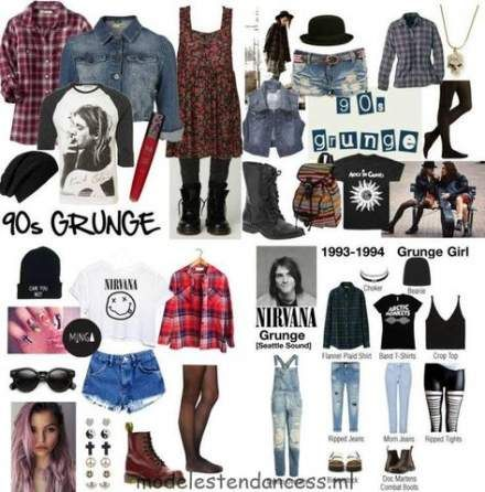 New Fashion 80s Grunge Outfit Ideas