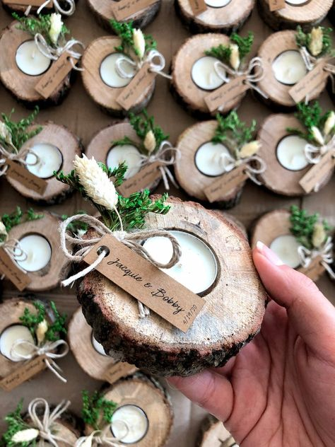 Wedding favors for guests bulk gifts rustic wedding favor personalized favors wo. - Wedding favors for guests bulk gifts rustic wedding favor personalized favors wood favors tealight holder unique gift thank you gifts Wedding Gifts For Guests, Rustic Wedding Favors, Wedding Party Favors, Bridal Shower Favors, Diy Wedding, Dream Wedding, Baptism Favors, Wedding Thank You Gifts, Wedding Night