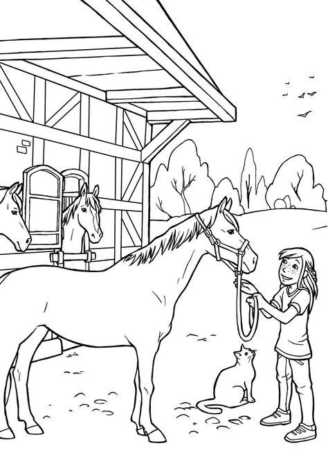 ausmalbilder pferde mit fohlen und reiter