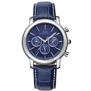 اي بي اس او ساعة عملية كاجوال رجال انالوج بعقارب جلد طبيعي 6809l Luxury Watches For Men Watches For Men Swiss Luxury Watches