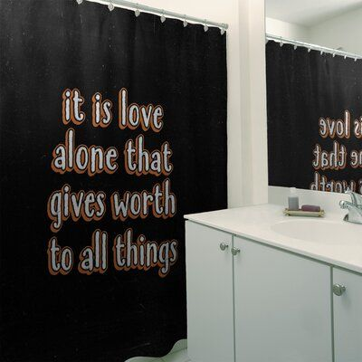 East Urban Home Love Inspirational Quote Chalkboard Style Shower