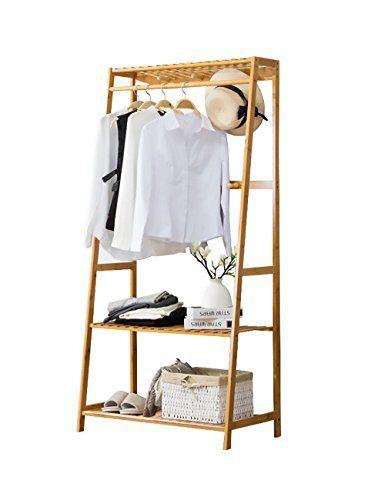One-tier Garment Rack Metal Clothes Coat Shoe Storage Shelf Closet Organizers