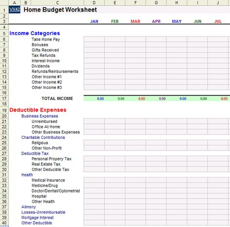 The  Best Household Budget Spreadsheet Ideas On