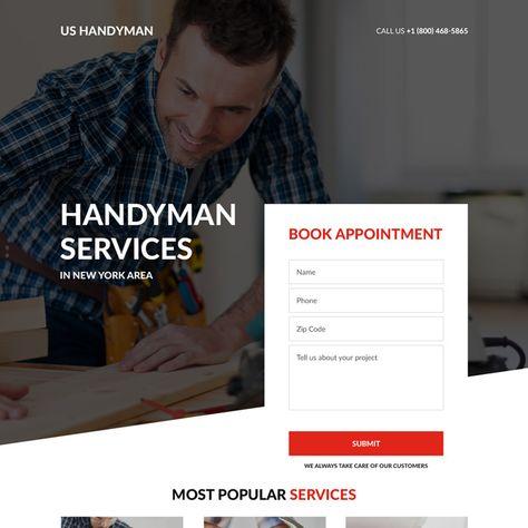handyman-business-landing-page-design-06   Home Improvement Landing Page Design preview.