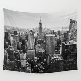 Black White Nyc Skyline Wall Tapestry Tapestry Nyc Skyline Tapestry Nyc