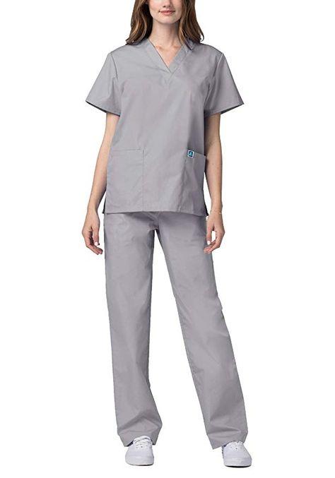 2e02a64b220 Amazon.com: ADAR UNIFORMS Adar Universal Medical Scrubs Set Medical Uniforms  - Unisex Fit (45 colors): Clothing
