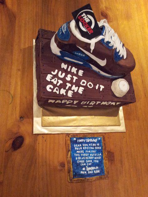 Nike Air max 90 shoe Cake | Vegan cake, Cake, Nutella