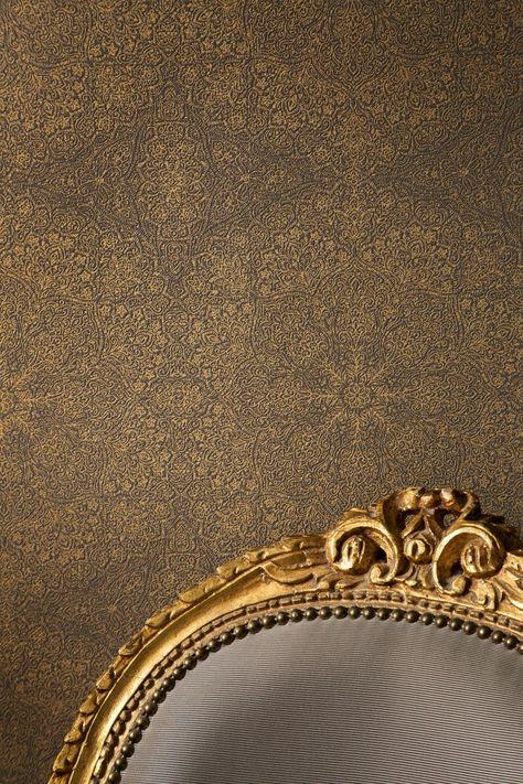 Vliestapete Kintsugi Optik Beige Grau Rose Gold Metallic Mandala Muster Tapeten Und Tapete Rot
