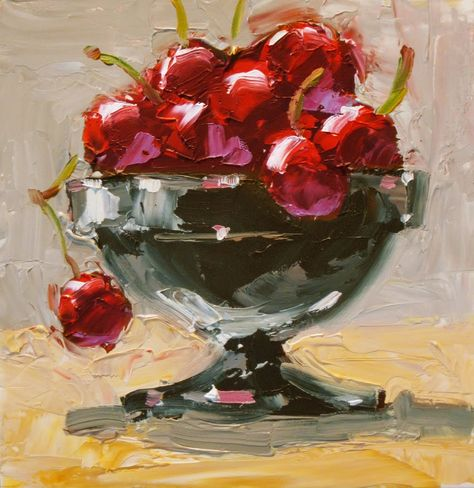 TOM BROWN FINE ART: A BOWL OF CHERRIES BY TOM BROWN