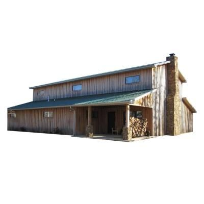 48 Ft X 60 Ft X 20 Ft Wood Garage Kit Without Floor Project 08 0602 The Home Depot In 2020 Wood Garage Kits Barn House Plans Pole Barn Homes