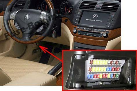 Acura Tsx Cl9 2004 2005 2006 2007 2008 2009 Fuse Box Location Fuse Box Acura Tsx Acura