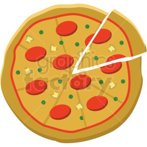 Pizza Vector Flat Icon Clipart With No Background Clipart Royalty Free Gif Jpg Png Eps Svg Ai Pdf Icon 406721 Grap Flat Icon Clip Art Pizza Vector