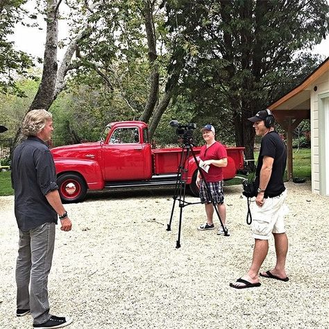 I busted out my 49 GMC for some filming today in #Malibu #ZumaFarms #FlippingVegas