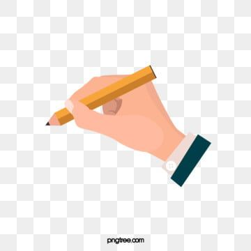 Holding A Pen Exquisite Design Hand Painted Copyrighted Simple Cartoon Texture Creative Hand Pencil Hand Cli Cute Illustration Pencil Clipart How To Draw Hands